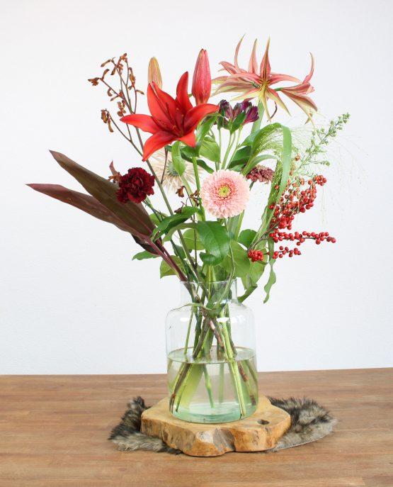 rood veldboeket weekly flower